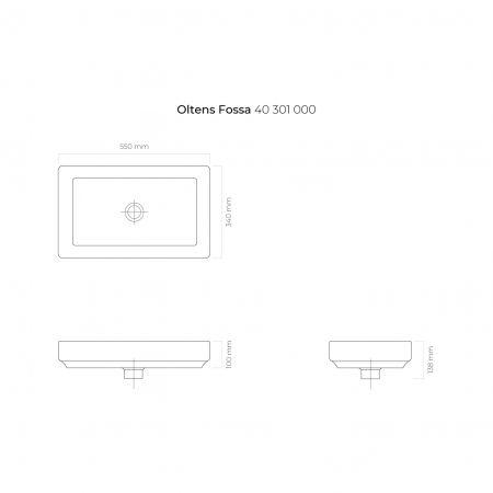 Oltens Fossa umywalka 55x34 cm nablatowa