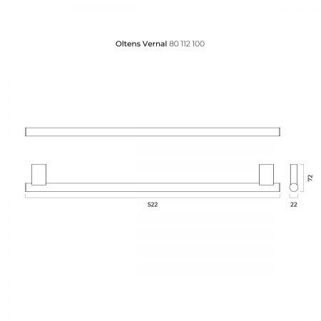 Oltens Vernal wieszak na ręcznik 45 cm pojedynczy chrom 80112100