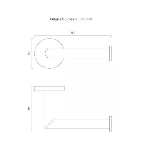 Oltens Gulfoss uchwyt na papier toaletowy złoty 81102800