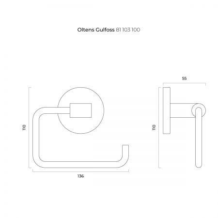 Oltens Gulfoss uchwyt na papier toaletowy chrom 81103100