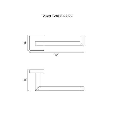 Oltens Tved uchwyt na papier toaletowy chrom 81105100