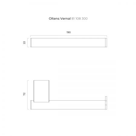 Oltens Vernal uchwyt na papier toaletowy czarny mat 81108300