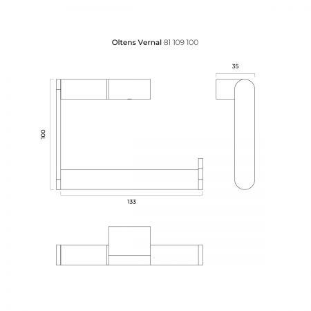 Oltens Vernal uchwyt na papier toaletowy chrom 81109100