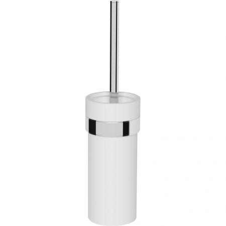 Oltens Vernal szczotka do WC wisząca z uchwytem biała ceramika/chrom 82102000