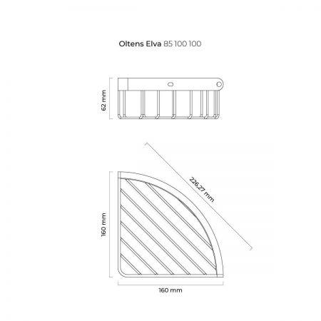 Oltens Elva koszyk łazienkowy narożny chrom 85100100