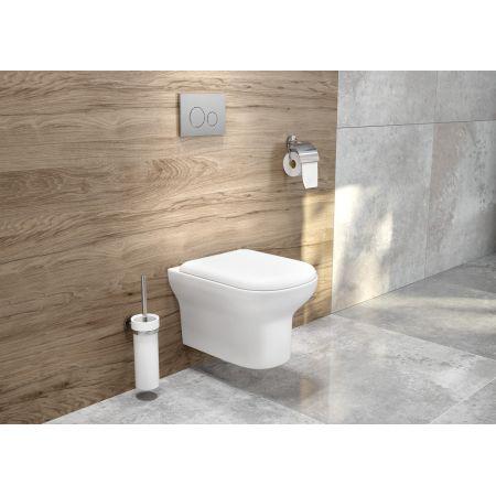 Oltens Gulfoss szczotka do WC wisząca z uchwytem biała ceramika/chrom 82101000