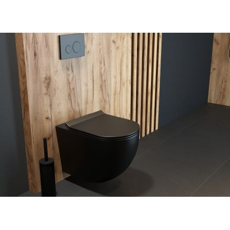 Oltens Gulfoss szczotka do WC stojąca czarny mat 82001300