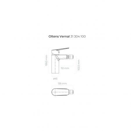 Oltens Vernal bateria bidetowa stojąca chrom 31304100