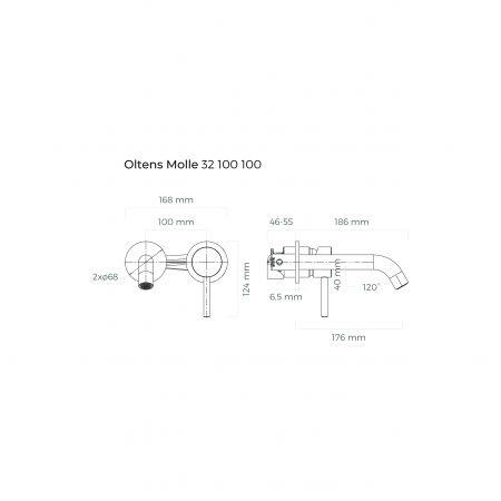 Oltens Molle bateria umywalkowa podtynkowa kompletna chrom 32100100