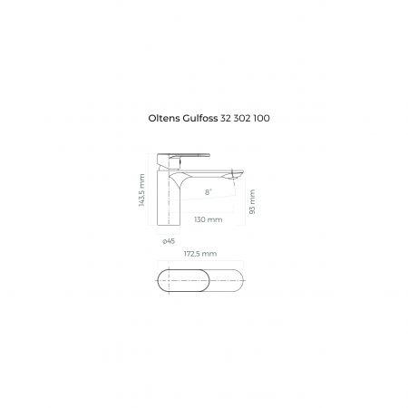 Oltens Gulfoss bateria umywalkowa stojąca chrom 32302100