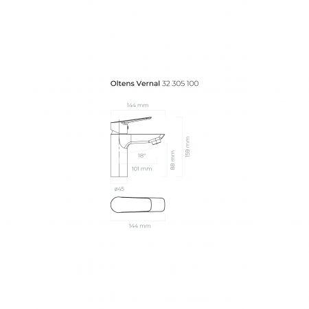 Oltens Vernal bateria umywalkowa stojąca chrom 32305100