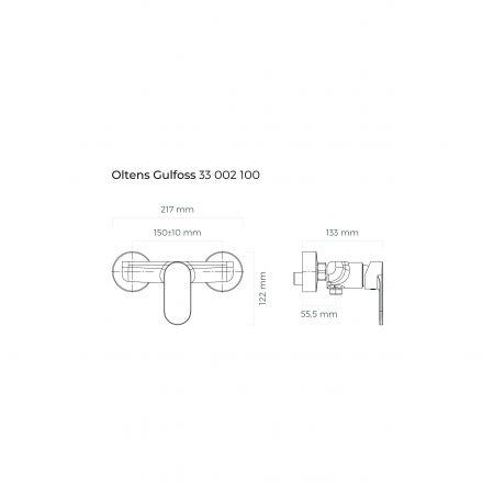 Oltens Gulfoss bateria prysznicowa ścienna