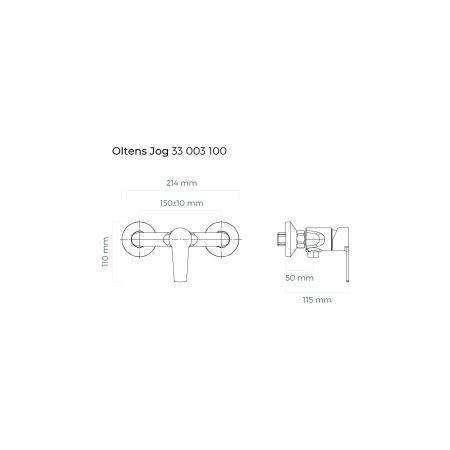 Oltens Jog bateria prysznicowa ścienna chrom 33003100