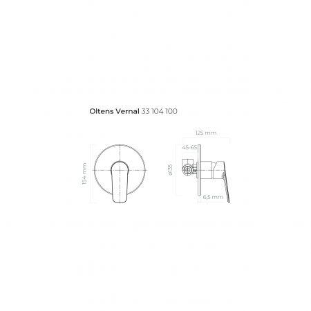Oltens Vernal bateria prysznicowa podtynkowa kompletna chrom 33104100