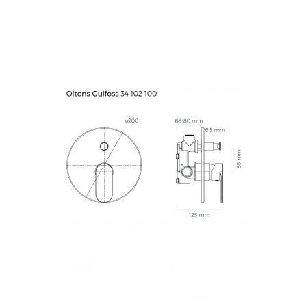 Oltens Gulfoss kompletna bateria wannowo-prysznicowa podtynkowa