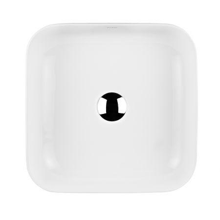Oltens Hadsel umywalka 38,5x38,5 cm nablatowa z powłoką SmartClean