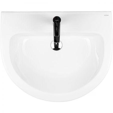 Oltens Jog umywalka 61x49 cm wisząca z powłoką SmartClean biała 41501000