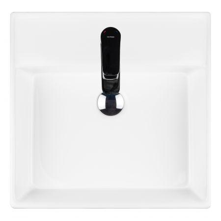 Oltens Hyls umywalka 47 cm nablatowa z powłoką SmartClean