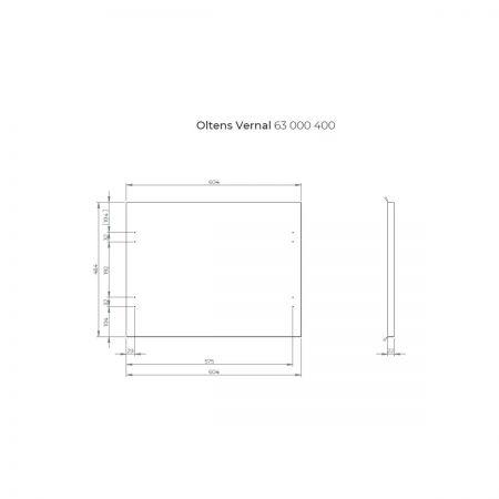Oltens Vernal szafka 60 cm podumywalkowa wisząca z blatem grafit 60003400