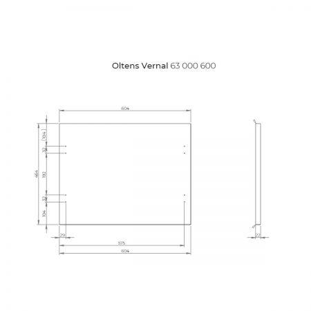 Oltens Vernal szafka 60 cm podumywalkowa wisząca z blatem grafit mat/dąb 60000460
