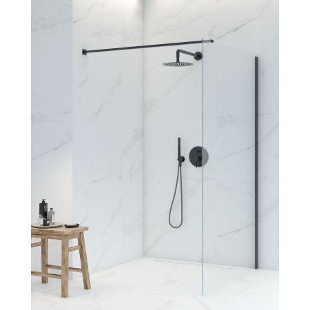 Oltens Bo ścianka prysznicowa Walk-In 90 cm profil czarny mat 22001300