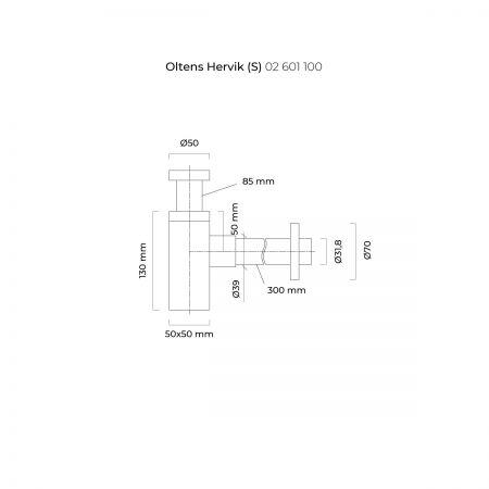 Oltens Hervik (S) syfon umywalkowy chrom
