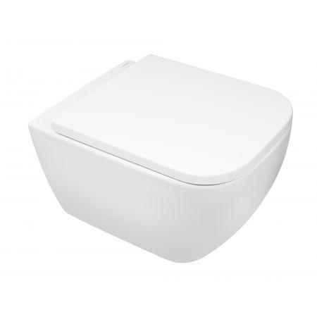 Zestaw Oltens Vernal miska WC wisząca PureRim z powłoką SmartClean z deską wolnoopadającą Slim 42507000